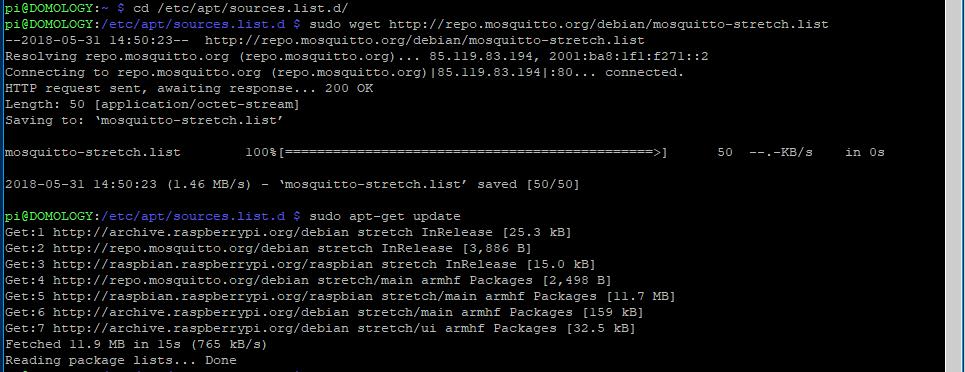 Instalación y configuración de MQTT | Domology 2 0